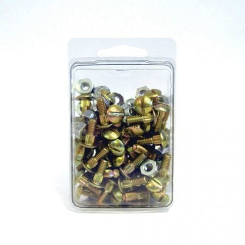 Bolt With Lock Nuts, 50 Pcs, 7/32
