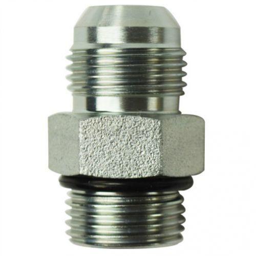 Brennan Steel 4 Units 1 in Male JIC 37/° Flare x 1-1//2 in Male O-Ring Boss Straight Adapter