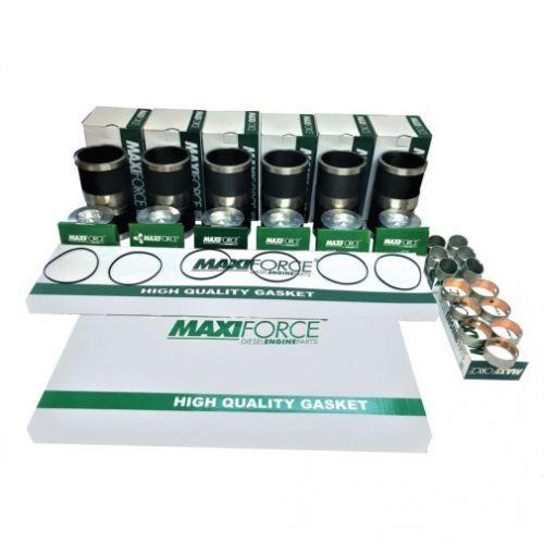 Engine Rebuild Kit - Less Bearings - Long Liner fits Case IH 8940 2188 7240 7220 8950 2388 8930 7250 2166 7230 2366 fits Cummins fits Massey Ferguson