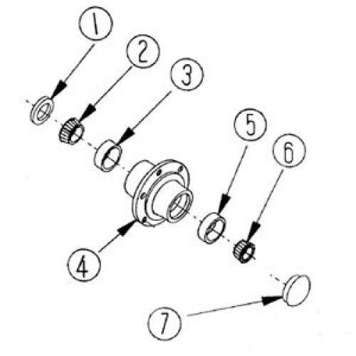 Front Wheel Hub Seal, New, H6606/6182 CTD