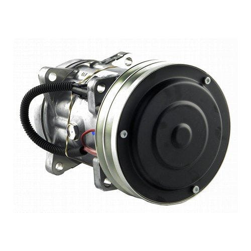 Air Conditioning Compressor with 2 Groove Clutch - Sanden, New, AGCO, 700713317, Case, 1999755C2