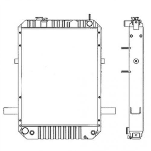 Radiator, New, Komatsu, 417321211