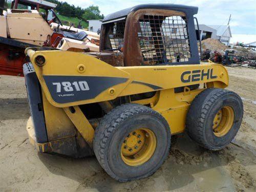 Used 2007 Gehl 7810 Skid Steer Loader Parts