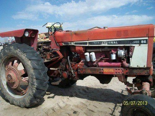 Used International Hydro 86 Tractor Parts