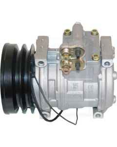 Air Conditioning Compressor - w/Clutch Denso fits John Deere 6810 7700 7400 2264 6850 6950 2266 6650 6750 7500 2054 6610 7800 6710 6910 7200 7300