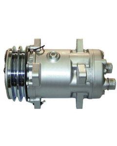 Air Conditioning Compressor - w/Clutch, Sanden, New, 450805, Ford, F0NN19D629BA, New Holland