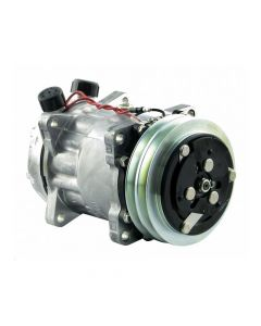 Air Conditioning Compressor with 2 Groove Clutch Sanden fits Case IH fits New Holland fits FIAT fits Gleaner fits Allis Chalmers fits White fits AGCO