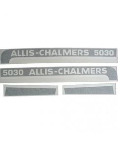 100231 | Allis Chalmers 7045 Decal Set | Hoods Only with Black Chassis | Vinyl | Allis Chalmers 7045 |