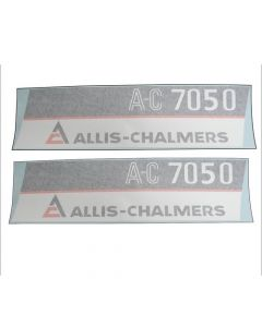 100224 | Allis Chalmers 7050 AC Decal Set | Hoods Only with Maroon Chassis | Vinyl | Allis Chalmers 7050 |