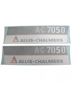 100225 | Allis Chalmers 7080 AC Decal Set | Hoods Only with Maroon Chassis | Vinyl | Allis Chalmers 7050 |