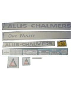 100217 | Allis Chalmers Decal Set | One Ninety | Vinyl | Allis Chalmers 190 |