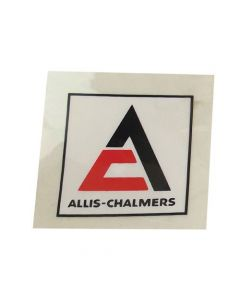 100162 | Allis Chalmers Decal | Triangle | Black & Orange with White Background | 1-1/2