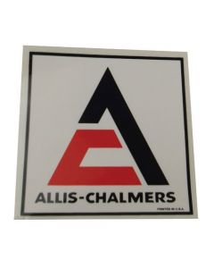 100163 | Allis Chalmers Decal | Triangle | Orange with White Background | 3-1/2