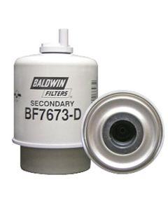 125849   Baldwin® Filter - Fuel   Secondary   BF7673-D   John Deere L512 L514 L524 L534 210 210LE 270 310E 310G 310SE 310SG 315 315SE 315SG 410E      RE50455   RE58367   RE62418   DONALDSON P551423   FLEETGUARD FS19516, FS19831   FRAM PS7407A   WIX 33531