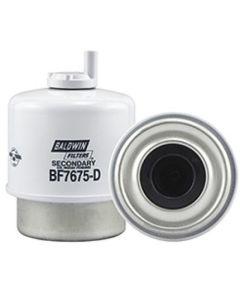 125853   Baldwin® Filter - Fuel   Secondary   Water Separator   With Drain Filter   BF7675-D   John Deere 240 250 260 324H 344H 450H 550H 650H 4890 4895 4990 5103       RE60021   DONALDSON P576918   FLEETGUARD FS19573, FS19838   FRAM PS7407A   WIX 33548