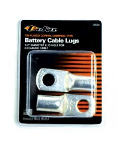 154954 | Battery Cable Lugs Tin Plated Copper 2/0 Gauge 1/2