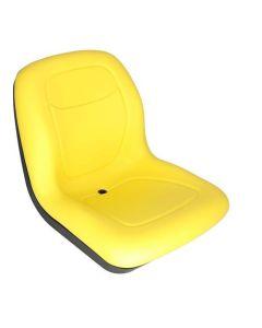 Bucket Seat, Vinyl, Yellow, New, Caterpillar, GG420-33358, John Deere, AT315073, LVA10029, RE72933