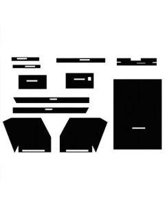 112817 | Cab Foam Kit with Headliner | Year-A-Round Cab | Black | Allis Chalmers D21 180 185 190 190XT 220 220 |