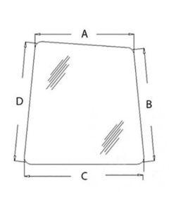 150453 | Cab Glass | Front Window - Right Hand | John Deere 80 110 120 160LC 200LC 230LC 230LCR 270LC 330LC 330LCR 370 450LC 550LC 750 | Hitachi EX110-5 EX160-5 EX750LC-5 |  | AT214163