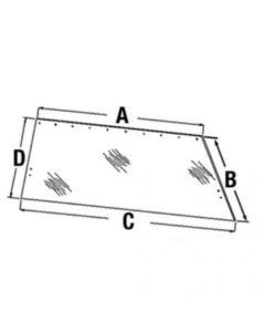 110229 | Cab Glass - Rear Window | Allis Chalmers 4W-220 4W-305 8010 8030 8050 8070 |  | 71502807