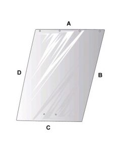 110230   Cab Glass - Right Hand or Left Hand Side Window   Allis Chalmers 7010 7020 7045 7060 7080 7580 8550      70591658