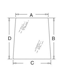 112997 | Cab Glass - Right Hand Side Tinted Window | New Holland TL70 TL80 TL80A TL90 TL90A TL100 TL100A 4835 5635 6635 7635 | Case IH Farmall 85U Farmall 95U Farmall 105U JX70U JX80U JX90U JX100U JX1080U JX1090U JX1100U |  | 5182188