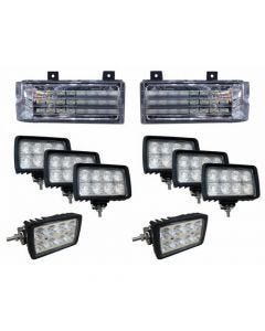 169619 | Complete LED Light Kit | Ford 8670 8770 8870 8970 | New Holland 8670 8670A 8770 8770A 8870 8870A 8970 8970A | Versatile 2145 2160 2180 2210 |