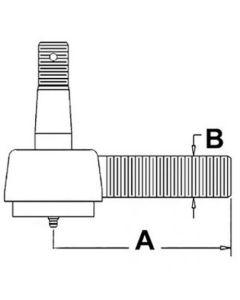 105034 | Drag Link End - Front | Tie Rod | Ball Joint | Massey Ferguson TEA20 |  | 825695M91 | 126920 | VPJ3004