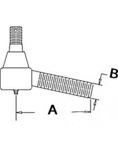 105036 | Drag Link End - Rear | Tie Rod | Ball Joint | Massey Ferguson TEA20 |  | 893607M91 | 181582M91