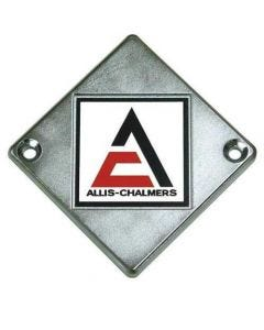 Emblem A/C Logo on Chrome Diamond fits Allis Chalmers D21 D12 D14 D15 D17 ED40 D19 D10 70246724 fits Gleaner A2 F K E C E3 70246724