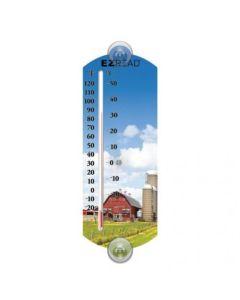 """161370   EZ Read - Thermometer    Barnyard   Indoor/ Outdoor   10""""  """