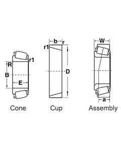 109643 | Final Drive Pinion Shaft Bearing Cup | Ford 700 900 | John Deere 5200 5400 5460 5720 5730 5820 5830 6600 6620 7700 7720 7722 8820 9600 9610 |  | 50515 | JD8285 | NCA7067A | 2735X