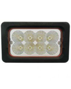 154221   LED Work Light - 40W   Flood Beam   Rectangular   Side Lamp   John Deere 310G 310SG 315SG 410G 710G 4700 4710 7200 7210 7400 7410 7510 7600 7610 7700 7710 7800 7810 8100 8100T 8110 8110T 8200 8200T 8210 8210T 8300 8300T 8310 8310T      RE330061