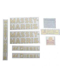 102582   Massey Harris 44 Diesel Decal Set   Vinyl   Massey Harris 44  