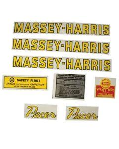 102651   Massey Harris Decal Set   Pacer   Mylar   Massey Harris Pacer  