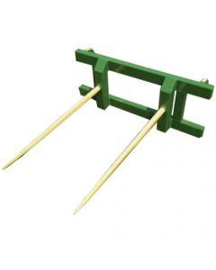 149859 | MDS - Skid Steer Loader | Bale Spear Stabber | Double Tine | 4400# | Euro Style Hook up | John Deere 146 148 |