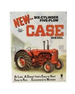161233 | Metal Tractor Sign - Case 500 Diesel | 12.5