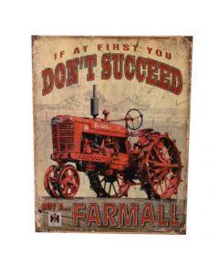 161220 | Metal Tractor Sign - Farmall Succeed | 12.5