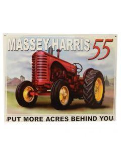 161219 | Metal Tractor Sign - Massey Harris 55 | 16.5