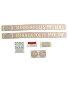 102718 | Minneapolis Moline Decal Set | BF Avery R | Full Size Gold Tractor | Vinyl | Minneapolis Moline BF R |