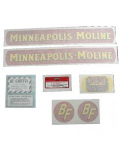102719 | Minneapolis Moline Decal Set | BF Avery R | Small Size Gold Tractor | Vinyl | Minneapolis Moline BF R |