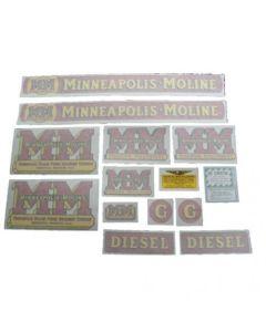 102729 | Minneapolis Moline Decal Set | G Diesel | Vinyl | Minneapolis Moline G |