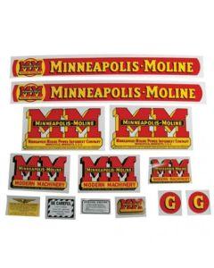 102781 | Minneapolis Moline Decal Set | G | Mylar | Minneapolis Moline G |
