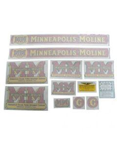 102728 | Minneapolis Moline Decal Set | G | Vinyl | Minneapolis Moline G |