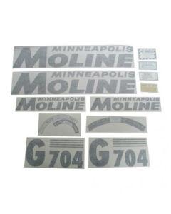 102756 | Minneapolis Moline Decal Set |  G704 | Black | Vinyl | Minneapolis Moline G704 |