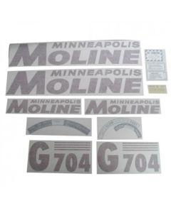 102755 | Minneapolis Moline Decal Set |  G704 | Red | Vinyl | Minneapolis Moline G704 |
