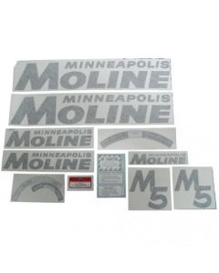 102737   Minneapolis Moline Decal Set   M5   Black   Vinyl   Minneapolis Moline M5  