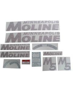 102736   Minneapolis Moline Decal Set   M5   Red   Vinyl   Minneapolis Moline M5  
