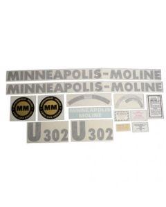 102748   Minneapolis Moline Decal Set   U302   Vinyl   Minneapolis Moline U302  