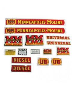 102778 | Minneapolis Moline Decal Set | UB Diesel | Mylar | Minneapolis Moline UB |